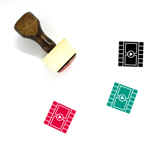 Multimedia Video Player Wooden Rubber Stamp No. 1