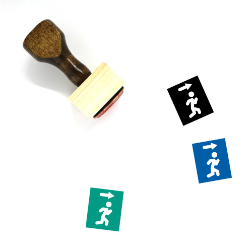 Right Direction Wooden Rubber Stamp No. 9