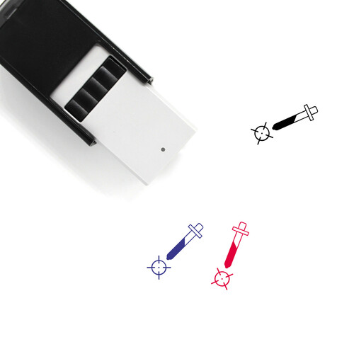 Color Picker Self-Inking Rubber Stamp No. 18