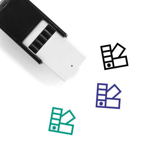 Color Swatches Self-Inking Rubber Stamp No. 5