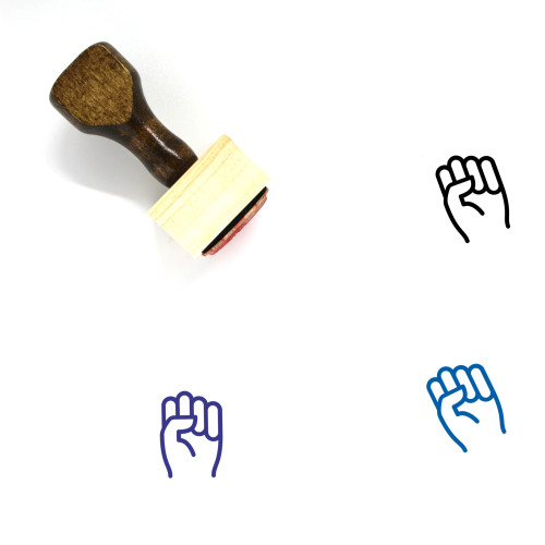 Fist Wooden Rubber Stamp No. 1