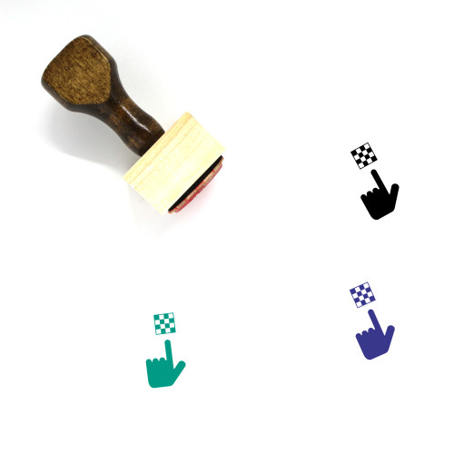 Chess Board Wooden Rubber Stamp No. 11