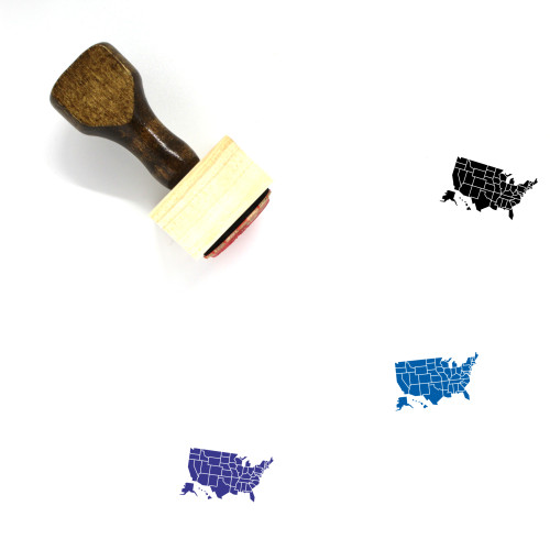 United States Of America Wooden Rubber Stamp No. 1