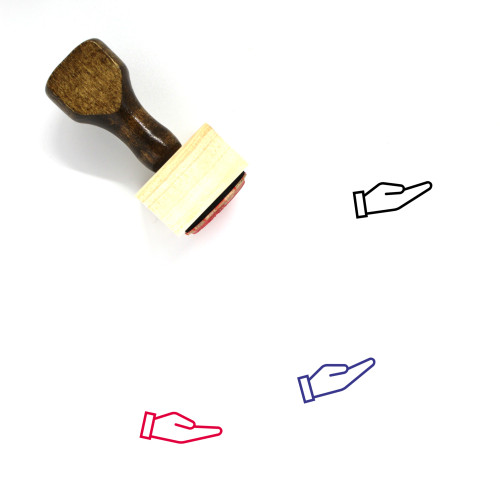 Hand Wooden Rubber Stamp No. 340