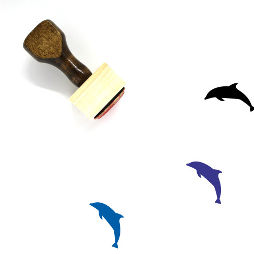 Dolphin Wooden Rubber Stamp No. 16