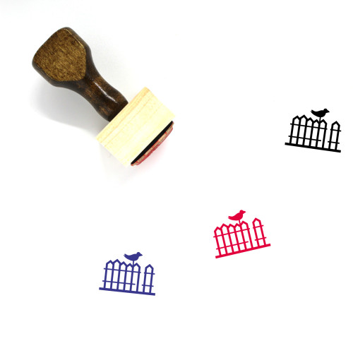Wood Fence Wooden Rubber Stamp No. 1