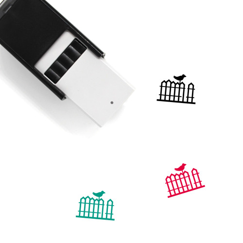 Wood Fence Self-Inking Rubber Stamp No. 1