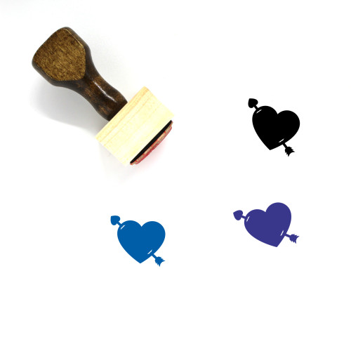 Arrow Heart Wooden Rubber Stamp No. 8