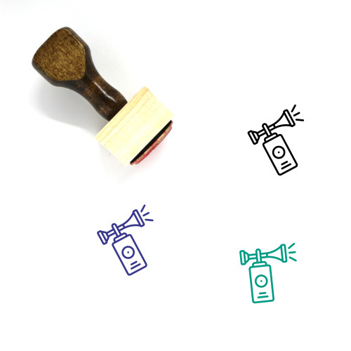 Air Horn Wooden Rubber Stamp No. 2