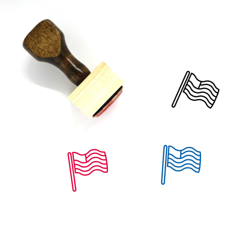 Independence Day Wooden Rubber Stamp No. 3