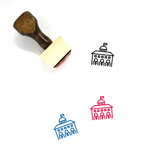 Government Wooden Rubber Stamp No. 43