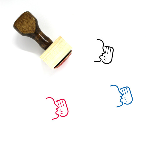 Yell Wooden Rubber Stamp No. 4