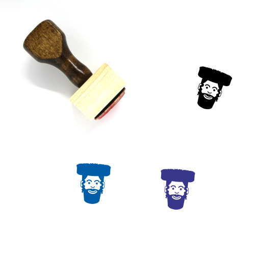 Hasidic Jew Wooden Rubber Stamp No. 11
