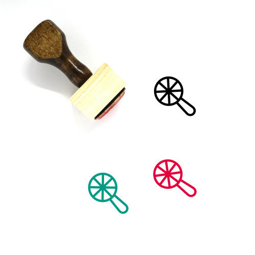 Rattle Wooden Rubber Stamp No. 12