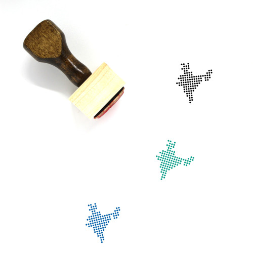 India Wooden Rubber Stamp No. 27