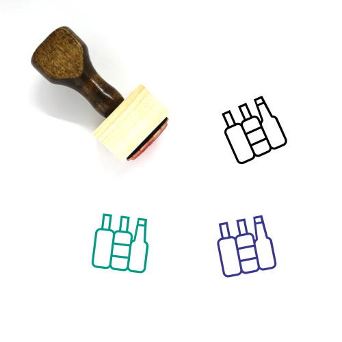 Alcohol Wooden Rubber Stamp No. 17