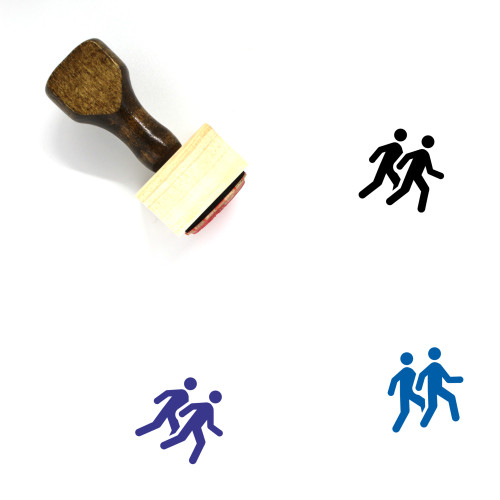 Follow Wooden Rubber Stamp No. 8