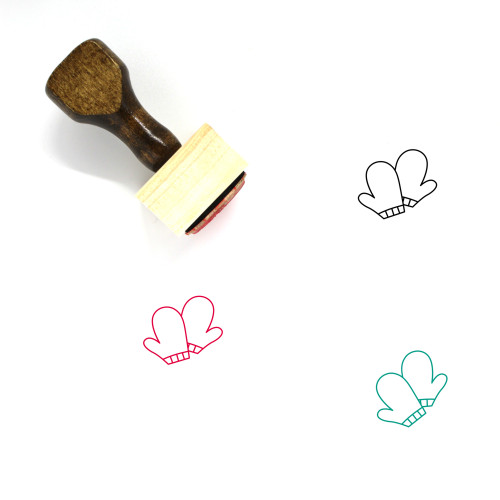 Mittens Wooden Rubber Stamp No. 16