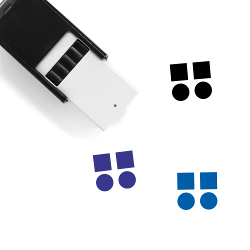 Abstract Self-Inking Rubber Stamp No. 7