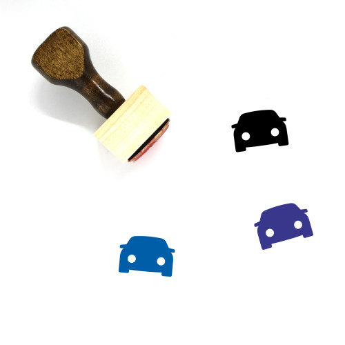 Car Wooden Rubber Stamp No. 156