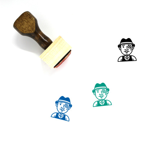 Detective Wooden Rubber Stamp No. 15