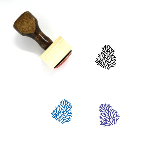Coral Wooden Rubber Stamp No. 8