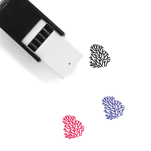Coral Self-Inking Rubber Stamp No. 8