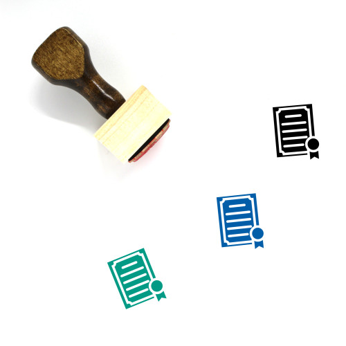 Degree Wooden Rubber Stamp No. 9