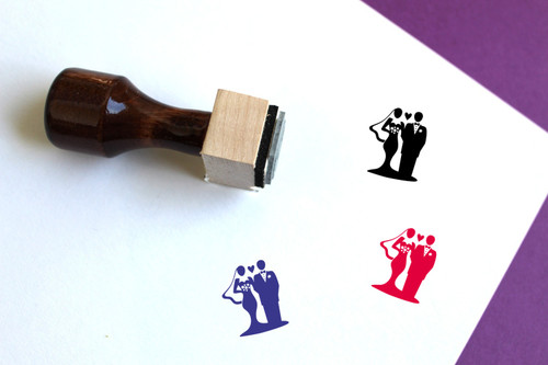 Wedding Wooden Rubber Stamp No. 2