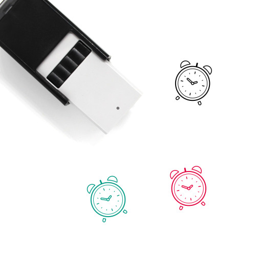 Alarm Clock Self-Inking Rubber Stamp No. 48