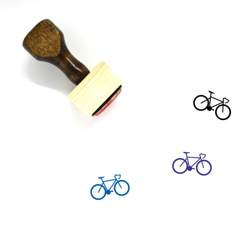 Bicycle Wooden Rubber Stamp No. 86