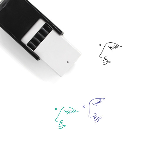 Abstract Face Self-Inking Rubber Stamp No. 1