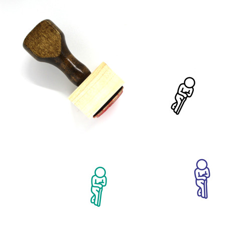 Old Wooden Rubber Stamp No. 6
