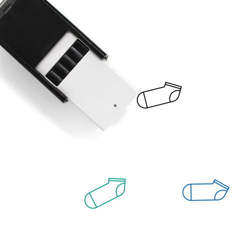 Ankle Sock Self-Inking Rubber Stamp No. 1