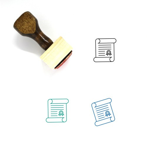 Academic Degree Wooden Rubber Stamp No. 2