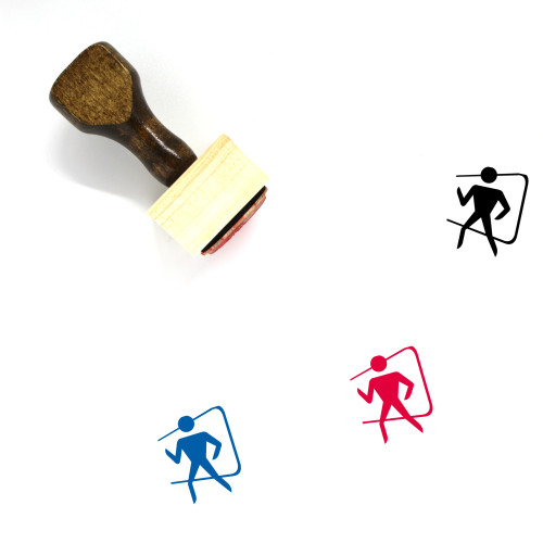 Exit Wooden Rubber Stamp No. 37