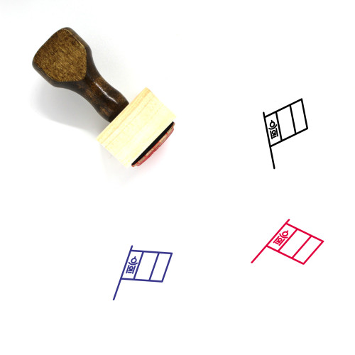 Mongolia Wooden Rubber Stamp No. 9