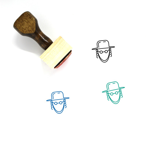Rabbi Wooden Rubber Stamp No. 3