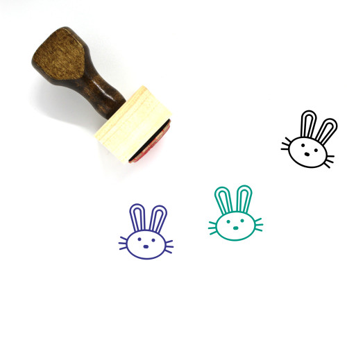 Bunny Rabbit Wooden Rubber Stamp No. 4