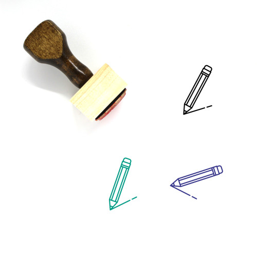Pencil Wooden Rubber Stamp No. 63