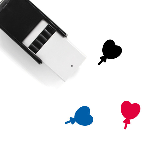 Heart Balloon Self-Inking Rubber Stamp No. 21