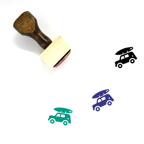 Jeep Wooden Rubber Stamp No. 4