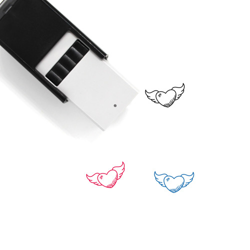 Winged Heart Self-Inking Rubber Stamp No. 2