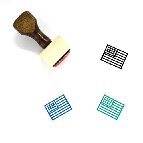 USA Wooden Rubber Stamp No. 23