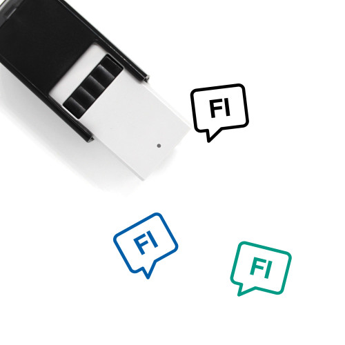 Finnish Self-Inking Rubber Stamp No. 1
