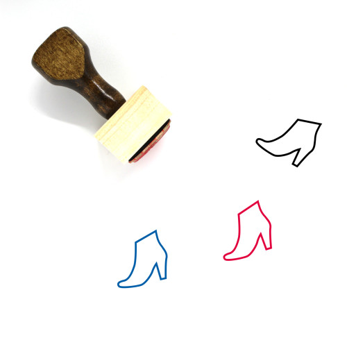 Ankle Boot Wooden Rubber Stamp No. 2