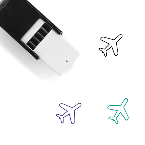 Airplane Self-Inking Rubber Stamp No. 234