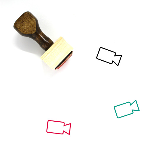 Video Camera Wooden Rubber Stamp No. 46