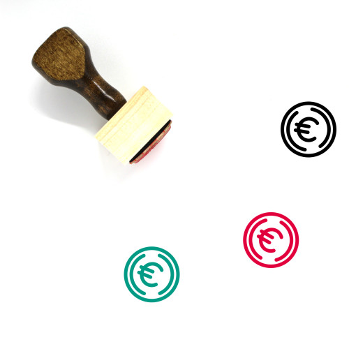 Euro Currency Wooden Rubber Stamp No. 10