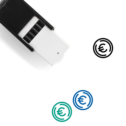 Euro Currency Self-Inking Rubber Stamp No. 10